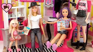 Barbie Doll Sisters Hair Salon Makeover - Chelsea Doesnt like her New Hairstyle