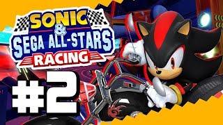 Shadow en su moto!😍😍   Sonic & SEGA All-Stars Racing PARTE 2 - [Copa Graffity]