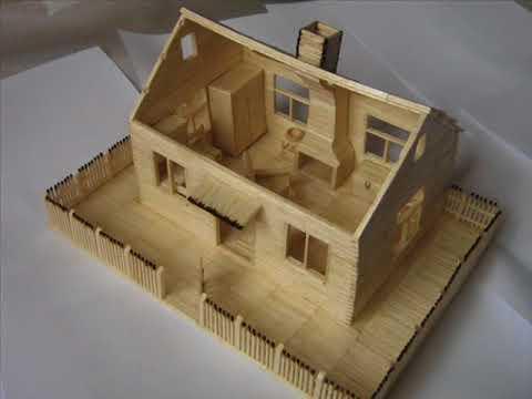 Domek z zapałek Match house
