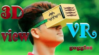 How to make VR headset at home with magnifying glass || 3D smartphone life hack