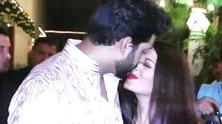 Abhishek kissing Aishwarya Rai In Public At Amitabh Bachchan