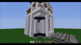 Minecraft Creations: 3 floors High Modern White House + Free Download