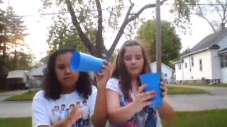 Rockelle and Jaidin doing the cup song