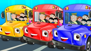 Wheels On The Bus Go Round And Round | Nursery Rhymes | Baby Rhymes | Kids Songs | Childrens Videos