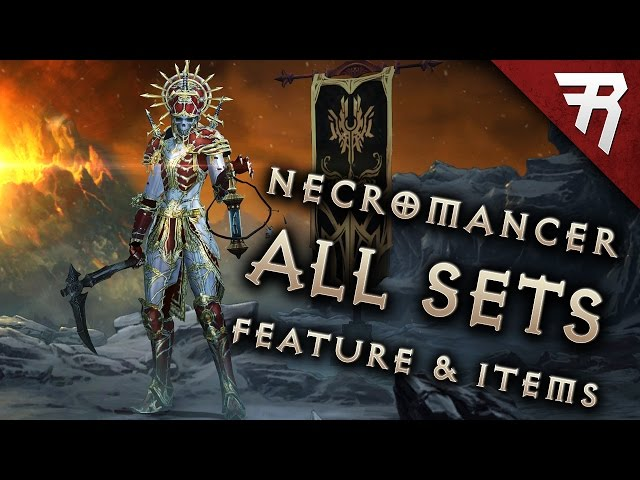 NECROMANCER GAMEPLAY: All sets! Legendary preview! (Diablo 3 2.6 beta)
