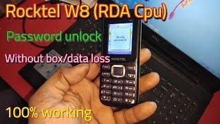 Rocktel w8 (RDA Cpu) password unlock without data loss || Verified Tricks