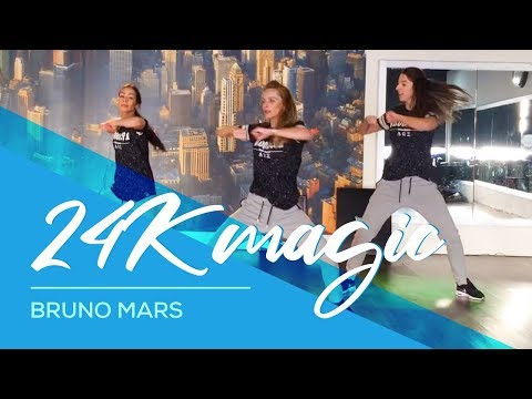 24k Magic Bruno Mars Davy Johnes Remix Easy Combat Fitness Dance Baile Choreography