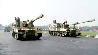 The mighty Indian Tank contingent participating at the Annual Army Day Parade 2020