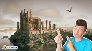 Create a Castle in Blender in under 60 minutes!
