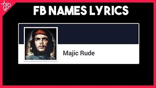 Rude - MAGIC! (Facebook Names Lyrics Video)
