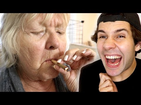 MY GRANDMA SMOKES WEED FOR FIRST TIME!!