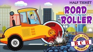 Road Roller Monster | Learning Construction Vehicles | Real City Heroes