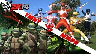 WWE 2K14 S1E12 - TMNT VS MMPR (Elimination Chamber)