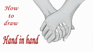 How to draw Holding Hands  Step by step (very easy)