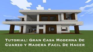 Tutorial: Gran Casa Moderna De Cuarzo y Madera Facil De Hacer (PT1)