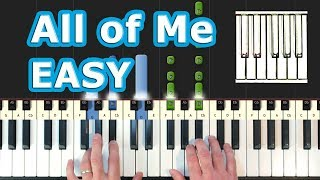 John Legend - All Of Me - Piano Tutorial EASY - How To Play (Synthesia)