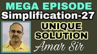 Simplification questions | 27 | MEGA EPISODE | Unique Solution #Amar Sir : Bank PO/Clerk/SSC/Railway