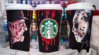 Starbucks Coffee Cup Art - Halloween Edition
