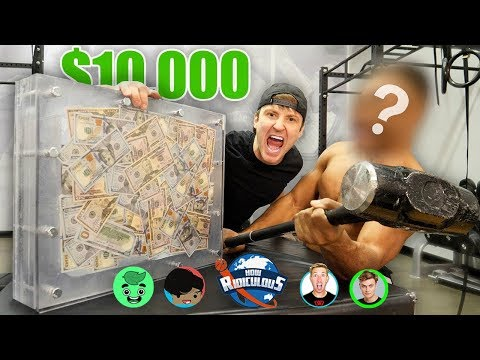 10 000 IF ANY YOUTUBER CAN BREAK THE BOX UNBREAKABLE GLASS CHALLENGE
