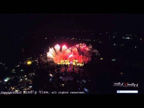 [風的視角]空拍 - 六福村主題樂園 - 台灣賀寶芙20週年活動煙火秀