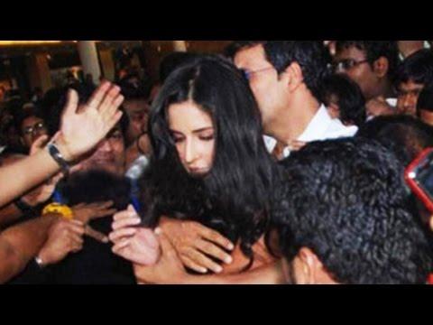 Bang Bang star Katrina kaif MOBBED by crazy fans | Latest Bollywood Gossip 2014 |