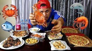 #تحدي المأكولات البحرية - وجبة ضخمة !! SEAFOOD CHALLENGE