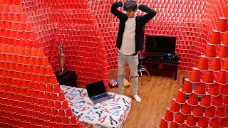 BIGGEST INDOOR RED CUP FORT!! | David Vlas