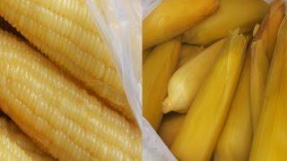 Asian Street Food - Buying Organic Corns, Fresh Street Boiled Corns - Cambodian Food