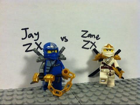 Lego Ninjago Jay ZX vs Zane ZX