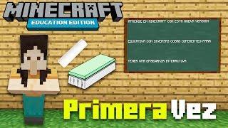 Mi primera vez en MINECRAFT EDUCATION EDITION!! La versión ESCOLAR