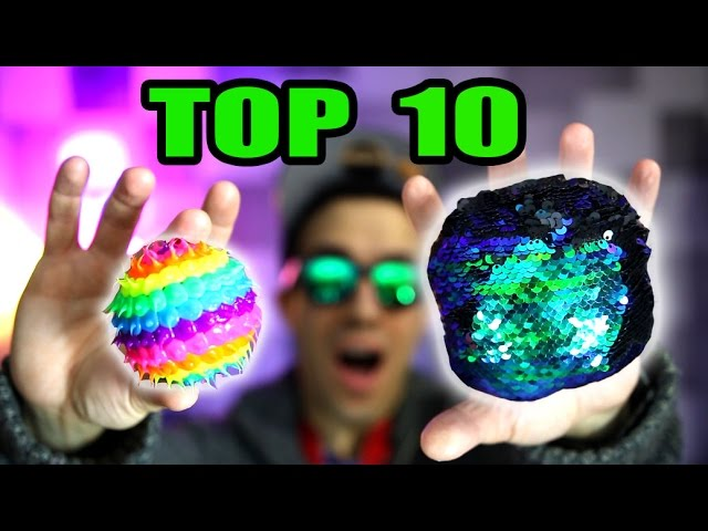 TOP 10 FIDGET TOYS THAT ARE NOT SPINNERS (Review and Unboxing)
