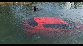 GPS FAIL | Woman Follows GPS, Drives Car Into  Bay