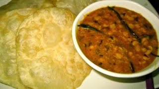 Puri/Poori/Luchi with Cholar Dal (Chana Dal / Bengali Lentil Recipe)