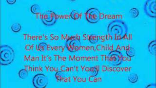 The Power Of The Dream - Celine Dion With Lyrics