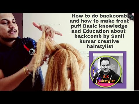 Xxx Mp4 How To Do Back Comb Basic Education By Sunil Kumar Creative Hairstylist How To Make Front Puff 3gp Sex