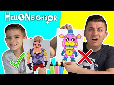 3 MARKER CHALLENGE Hello Neighbor Edition