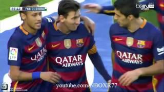ملخص واهداف مباراة برشلونة وغرناطة 4-0 شاشة كاملة+720HD تعليق حفيظ دراجي09-01-2016