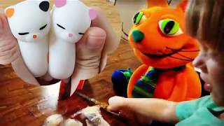 Squishy Toys UNBOXING Mochi stretching squishing Animals [Sweetie Fella Aleks]