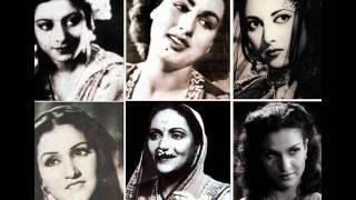 Ek Dharti Hai Ek Hai Gagan Meena Kapoor Film Adhikar (1954) Music Avinash Vyas.