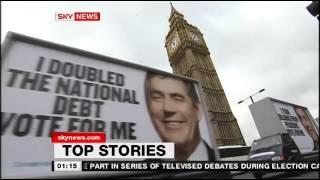 Sky News - 12-3am Titles and Stings / 29 Mar, 2010 (English news)