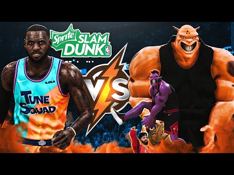 NBA 2K21 SPACE JAM 2 A NEW LEGACY SLAM DUNK CONTEST 200 OVERALL MONSTAR FLYING 360 DUNK