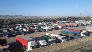 Iran, Sept. 26, 2018.  4rd day of truck drivers' protests