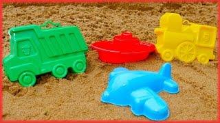 Aprende los colores con moldes de barro. Videos de juguetes.