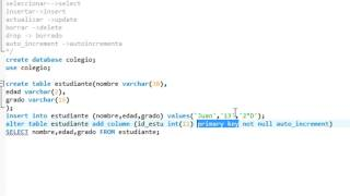 Curso MySql 02 - comandos Insert,update,delete