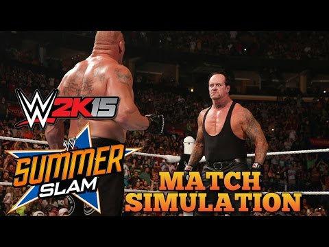 Xxx Mp4 Brock Lesnar Vs The Undertaker WWE Summerslam 2015 WWE 2K15 Match Simulation 3gp Sex