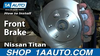 How To Install Do a Front Brake Job 2004-14 Nissan Titan and Armada