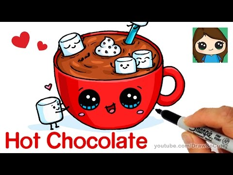 Xxx Mp4 How To Draw Hot Chocolate With Marshmallows Cartoon Food 3gp Sex
