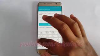 Samsung Galaxy S7 Edge : How to sign in to Samsung account (Android Marshmallow)