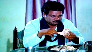 Chinna Kodalu Movie || Dharmavarapu Subramanyam Eating Funny Comedy Scene || Suresh,Vani