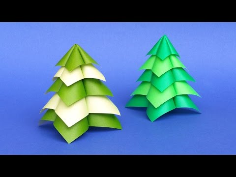 Quick and Easy Origami Christmas Tree 🎄 DIY Tutorial